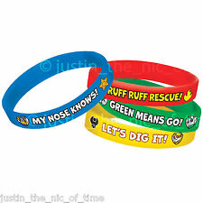 PAW PATROL Boys Girls Birthday Party Bag Fillers Gifts RUBBER BRACELETS x6