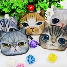 Hot 3D Cute Wallet Bag Animal Face Zipper Mini Cat Coin Purses Dog Purse Plush