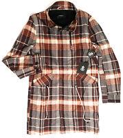 Drop Dead Flannel Jacket Womens Size SMALL Checker RARE Full Zip Coat NEW