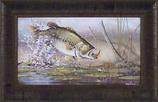 """""""FREQUENT FLYER"""" Scott Zoellick 14x22 FRAMED PRINT S/N L/E Largemouth Bass Fish"""