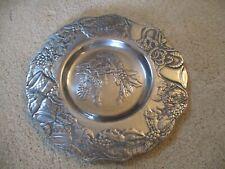 Arthur Court Aluminum Christmas Round Serving Platter