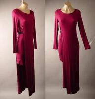 Burgundy Asymmetric Layer Minimalist Goddess Jersey Long Maxi 259 mv Dress S M L