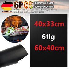 6er Set BBQ Grillmatte 60/40 cm Extra Dickn Für Gasgrill und Holzkohle Bratfolie