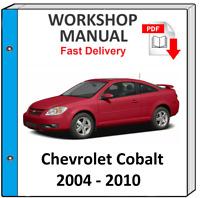 CHEVROLET COBALT 2004 2005 2006 2007 2008 2009 SERVICE REPAIR MANUAL WORKSHOP