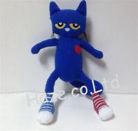 """Pete le chat poupée chaussures blanches peluche animal jouet 14 """""""