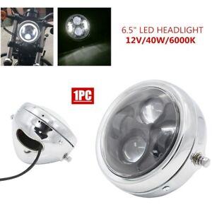 "Motorcycle LED Headlight 6.5"" Vintage LED Projector Front Headlights Hi-Lo Beam"