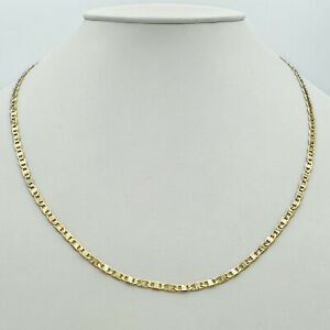 14K Gold Plated Chain Necklace - Mariner Style - 24in Long - 4mm