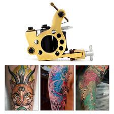 Pro Copper Frame Coil Tattoo Machine for Liner Shader 10 Wraps Coils Tattoo Gun