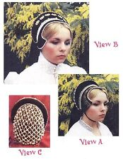 Ladies' Elizabethan French Hood Costume 3 Views Lynn McMasters Sewing Pattern #4