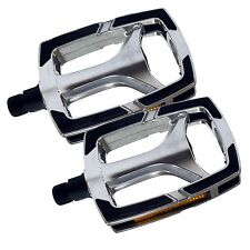 Bike Replacement Spare  Pedals, 9/16 Alloy with Non Slip Tread