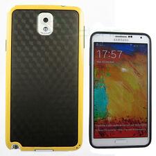 PELLICOLA+Custodia BEEHIVE per Samsung Galaxy Note 3 N9005 cover GIALLO NERO