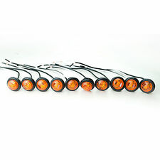 "Trailer 3/4"" Lights LED 1 Diode (10) AMBER Clearance, FREE SHIPPING"