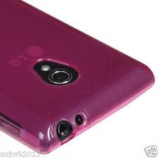 LG Lucid 4G VS870 Verizon Soft TPU Gel Skin Case Candy Cover Frosty Hot Pink