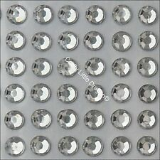 300 x 5mm Clear Rhinestone Diamante Stick On Self Adhesive Gems - Diamonte Bling