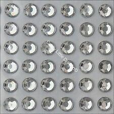 300 x 5mm Clear Rhinestone Diamante Stick On Self Adhesive Gems - Diamonte Bling