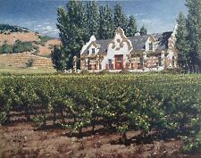 "George Hallmark Signed & Numbered Limited Edition ""Chimney Rock Winery"" COA"