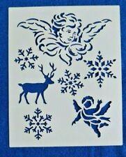 Wandtattoo  gestalten Schablone dekorieren Scrapbooking Hirsch 20 x 25,5 cm