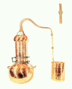 Distillery Alembic copper rotary column with thermometer 10 liters