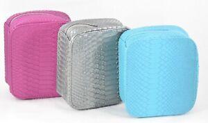 Trish McEvoy Petite Makeup Planner Cosmetic Travel Case Bag Pick Color Blue Grey