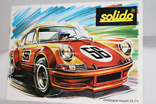 Solido 1974 Factory Catalog of Models