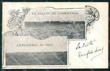 Piacenza Gossolengo Artiglieria al Tiro Militari cartolina VK4523