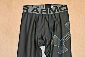 UNDER ARMOUR HEAT GEAR Boys FITTED Poly Spandex Tights Black YLG