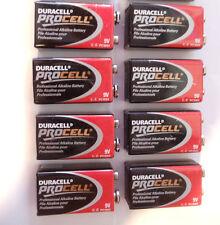 Lot of 8 DURACELL PROCELL 9V Volt Professional Alkaline Batteries fresh date