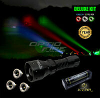Opticfire® TX-38 T38 LED Deluxe/Supreme CREE LED hunting light torch lamp kit NV