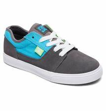 Tg 32 - Scarpe Bimbo Bambino DC Tonik Grigio Verde Blu Sneakers Schuhe Skate