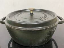 Vintage STAUB Cocotte Cast Iron Dutch Oven France Pot Stockpot 6QT