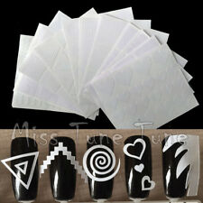 12pcs/set French Manicure Nail Art Guide Tips Hollow Stencils Sticker Template