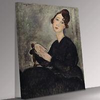 Amedeo Modigliani Portrait Of Dedie Canvas Wall Art Picture Print