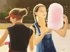 Tudor Gafton Titel :Girl with candy floss verkoop via  Galerie Artforyou