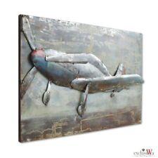 LUXUS Wandbild Metallbild Wandskulptur 3D Gilde Gallery Wandkunst ca. 60x40 cm