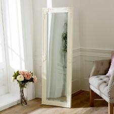 Tall Slim Ivory Wall Mirror Shabby Vintage Chic French Ornate Bedroom Hallway