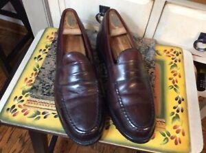 Allen Edmonds Cole Mens Penny Loafers Dress Shoes Burgundy/ black  Size 9.5 D