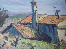 Angel Garcia Lapuyade 1931-2013-Espagne-Tableau/huile-maison-oil