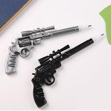 2pcs Gun Shaped Pen Funny Ballpoint Pen Creative Kids Student Stationery Set