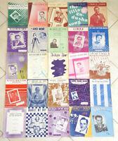 Lot of 25 Vintage 1940's Sheet Music -Jazz Pop-Antique 40s-Art Covers-#1