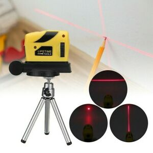 Laser Lazer Level Leveling Rotary Line Cross Red Tripod Beam 360° Rotating US