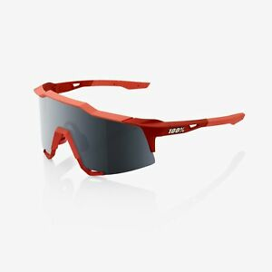 100% Percent Sunglasses- SPEEDCRAFT - Soft Tact Coral - Black Mirror Lens