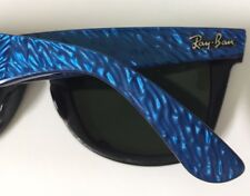 Ray Ban Wayfarer Vintage Blue Psychedelic Black Sunglasses