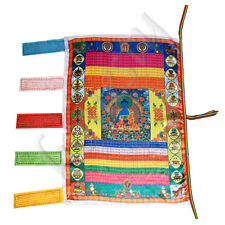 Tibetan Wind Horse Flag Buddhist Pray Prayer Flag For Buddhism Medicine Satin