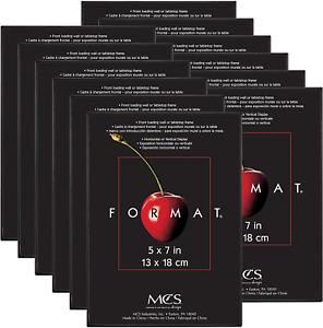 5x7 Inch Format Frame 12-Pack,Tabletop Frame Black,Photo Album (65472)