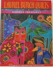 Laurel Burch Quilts Kindred Creatures 12 Applique Embellishment Pattern Book