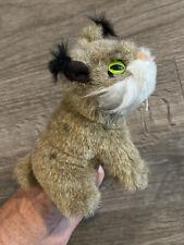 """Folkmanis 5"""" Mini Finger Puppet Plush Bobcat Lynx Pretend Play Mommy Finger EUC"""
