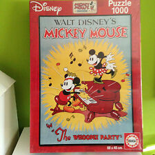 "PUZZLE EDUCA 1000 CARTEL PELICULA WALT DISNEY -MICKEY MOUSE  ""THE WHOOPER PARTY"""