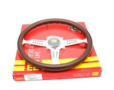 MOMO Steering Wheel Heritage Grand Prix Mahogany Wood Silver Spokes 350mm NEW