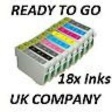 now ink 18 (2x full set) Compatible Ink Cartridges For Epson Stylus Photo R2880