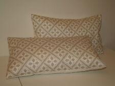 Laura Ashley señor Jones Gris Paloma Par de reforzar estilo Cushion Covers